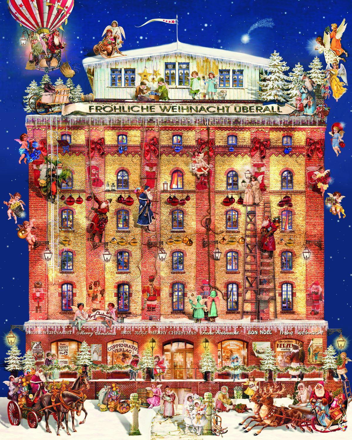 Deluxe Traditional Card Advent Calendar Extra Large
