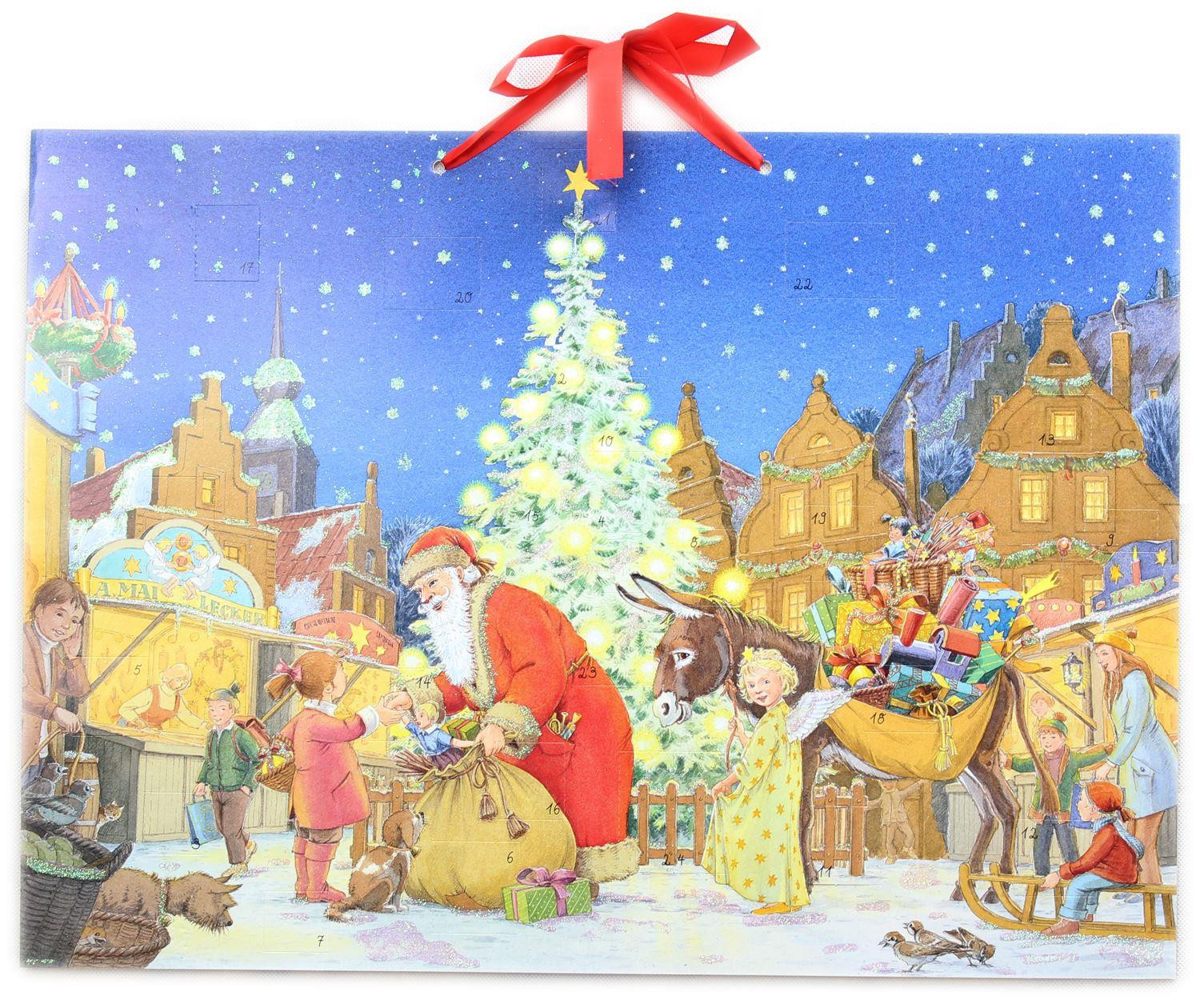 Deluxe Traditional Card Advent Calendar Large - At The