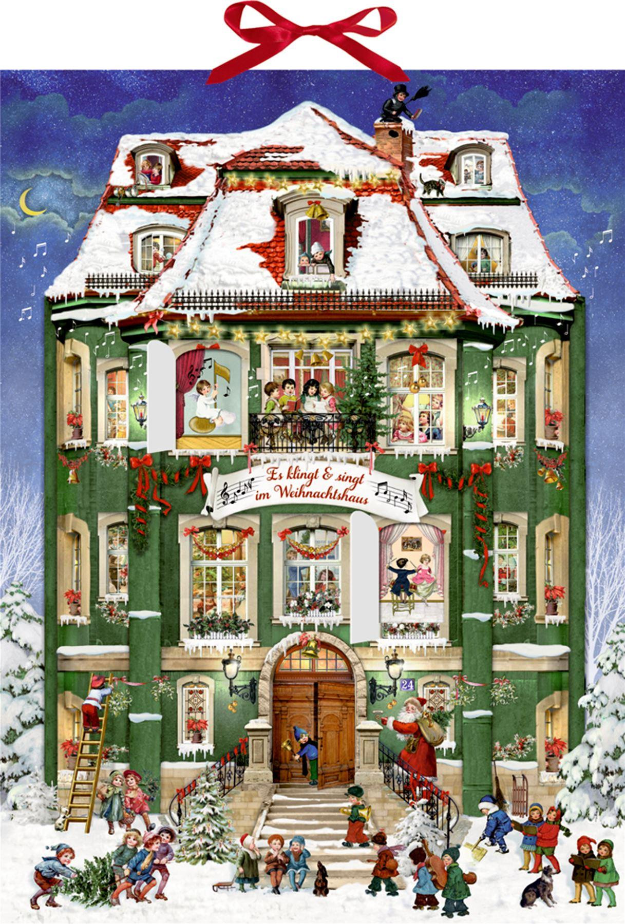 Deluxe Traditional Card Advent Calendar Large ~ Musical
