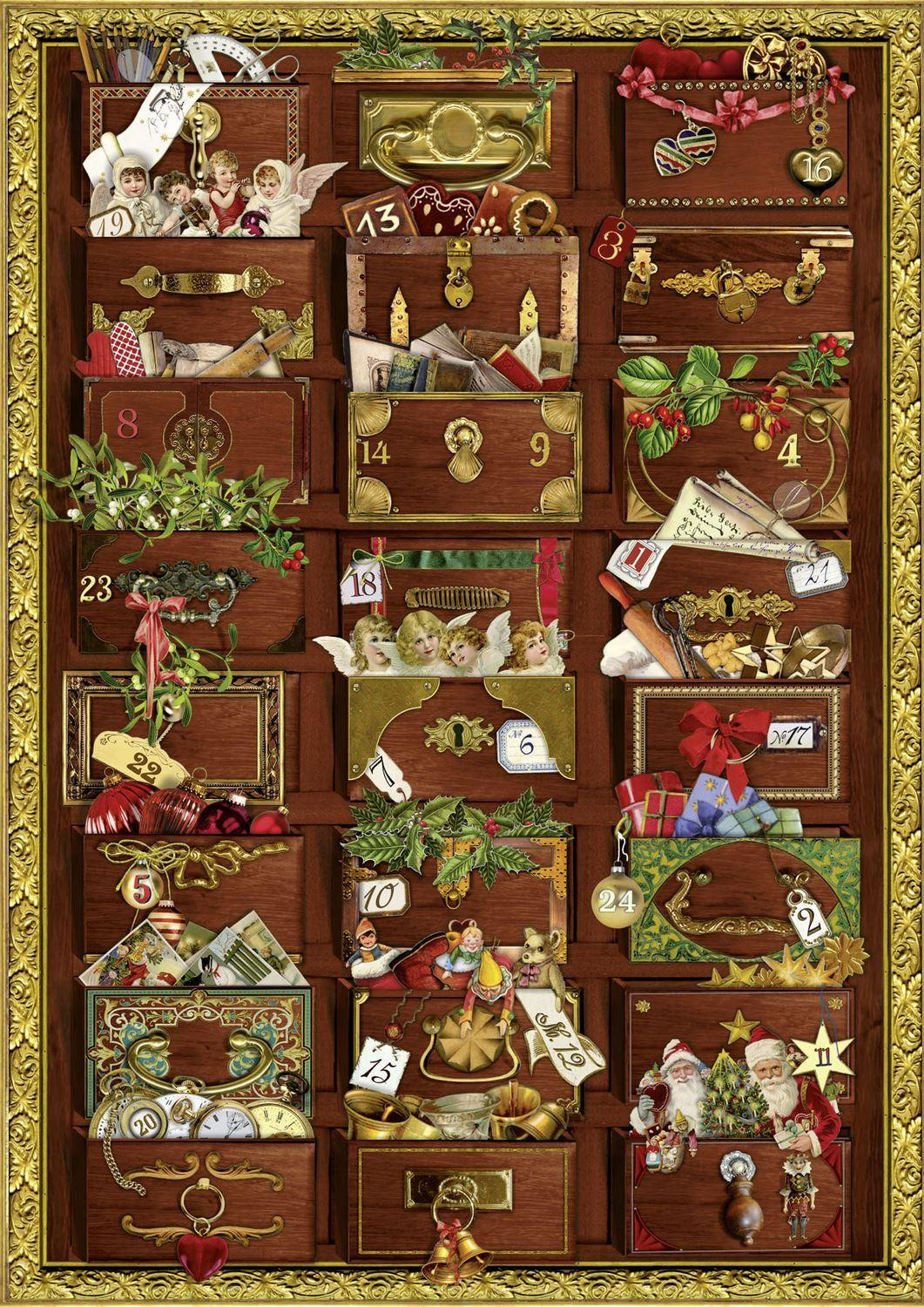Deluxe Traditional Card Advent Calendar A4 - Victorian
