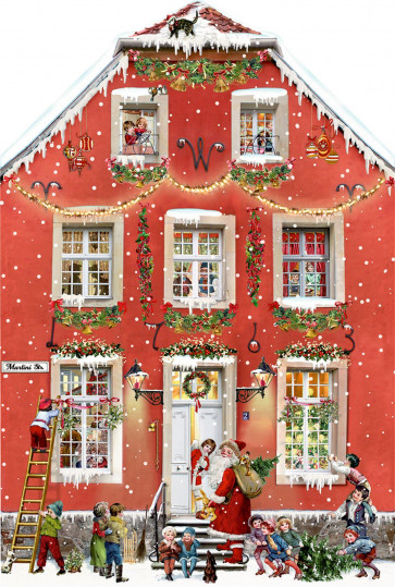Deluxe Traditional Card Advent Calendar - Party At The Victorian House