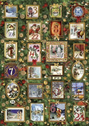 Countdown Until Christmas Eve A4 Traditional Card Advent Calendar