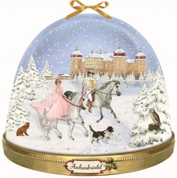 Deluxe Traditional Card Advent Calendar Large - Fairytale Snowglobe
