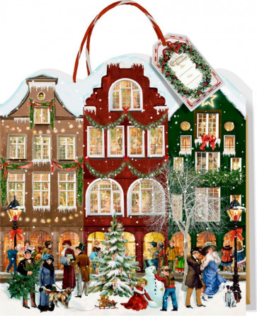 Deluxe Traditional Card Advent Calendar Large - Advent Christmas Gift Bag