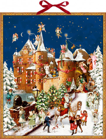 Deluxe Traditional Card Advent Calendar Large - Christmas At The Castle