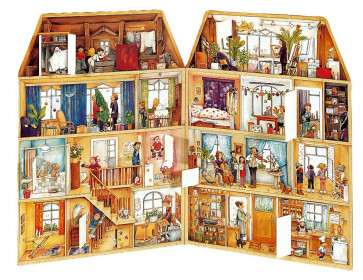 Deluxe Traditional Card Advent Calendar Large - In The Christmas House