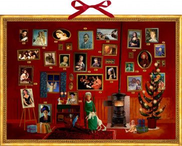 Deluxe Traditional Card Advent Calendar Large - The Art Gallery