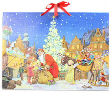 Deluxe Traditional Card Advent Calendar Large - At The Christmas Market
