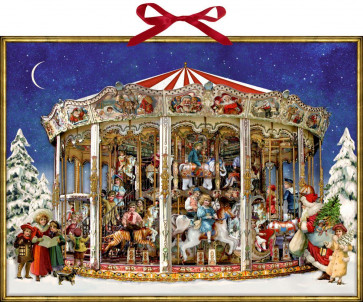 Deluxe Traditional Card Advent Calendar Large - The Christmas Carousel