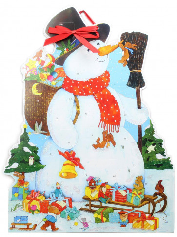 Deluxe Traditional Card Advent Calendar Large - My Friend The Snowman