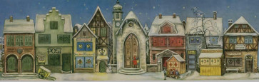 Traditional Old World Street Christmas Advent Calendar