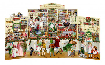 Deluxe Traditional Stand Up Card Advent Calendar Extra Large - Nostalgic Christmas Shop