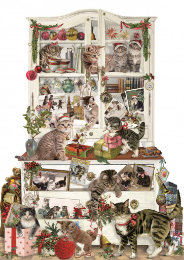 Deluxe Traditional Card Advent Calendar - Mischievous Christmas Cats