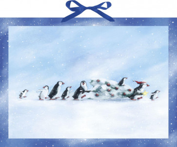 Deluxe Traditional Card Advent Calendar Large - Penguin's Christmas Story