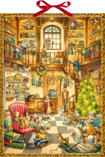 Deluxe Traditional Card Advent Calendar Large - Christmas At The Toy Shop