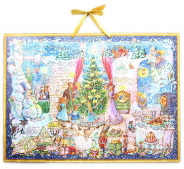 Deluxe Traditional Card Advent Calendar Large - Hans Christian Anderson Fairytale