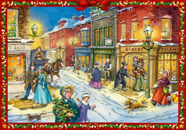 Deluxe Traditional Card Advent Calendar A4 - Charles Dickens Christmas World