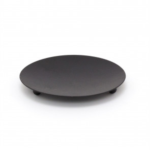 Traditional Black Metal Candle Holder Candle Plate | Pillar Candle Dish Candlestick | Round Votive Candle Holders
