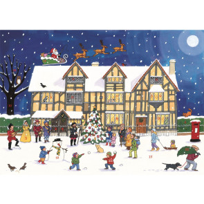 Alison Gardiner Traditional Card Advent Calendar Large - Christmas at the Old Town House