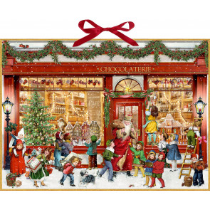 Deluxe Traditional Card Advent Calendar Large - The Chocolate Shop