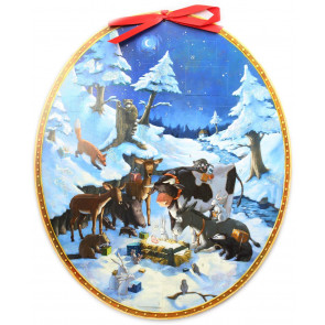 Deluxe Traditional Card Advent Calendar Large - The Animals' Celebrate Christmas