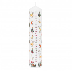Traditional Countdown To Christmas Advent Candle | Winter Wildlife Pillar Candle | Christmas Candle Advent Candles