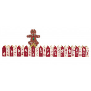 24 Day Countdown To Christmas Gingerbread Calendar Block ~ Xmas Advent Decoration