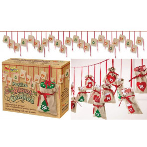 Fabric Bunting Christmas Advent Calendar Garland