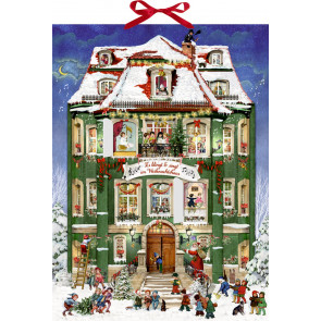 Deluxe Traditional Card Advent Calendar Large ~ Musical Christmas Carol Advent Calendar