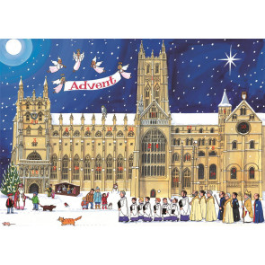 Alison Gardiner Traditional Card Advent Calendar Large - Christmas at the Cathedral