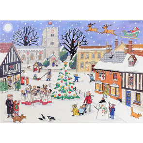 Alison Gardiner Traditional Card Advent Calendar Large - Christmas in the Village