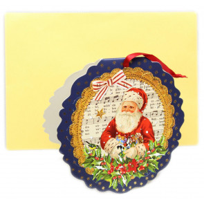 Mini Advent Calendar Christmas Card Decoration - Father Christmas