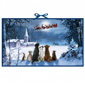 Deluxe Traditional Christmas Advent Calendar   Santa And Animals Advent Calendar   Father Christmas Picture Advent Calendar